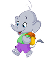 school elephant vector image