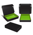 set of black cardboard box package for vector image vector image