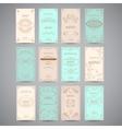 Set Of Vintage Luxury Greeting Restaurant Menu vector image vector image
