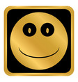 smile face circle button vector image vector image