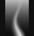 smoke wave on transparent background vector image