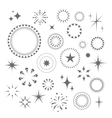 Sparkles and Starbursts set vector image