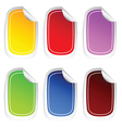 sticker in six color set three vector image