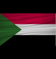 sudan flag flag of sudan blowig in the wind eps vector image vector image