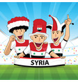 syria football support vector image