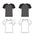 t shirt hashtag man template front back views vector image vector image