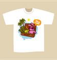 t-shirt print design summer vacation vector image vector image