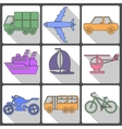 Transport Icons Collection vector image vector image