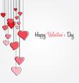valentines floral background vector image