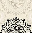 Victorian style decorative circle design vector image vector image