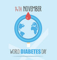 world diabetes day poster vector image