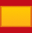 yellow chinese square abstract backgroud vector image