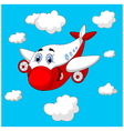 Cartoon plane charachter vector image