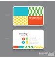 Modern Trendy Business card Design Template vector image