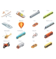 Transport Icons in Isometric Projection vector image