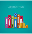 accounting concept in flat style vector image vector image