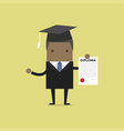 african businessman or student with a diploma vector image vector image