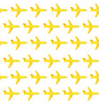 airplane seamless pattern yellow elements vector image