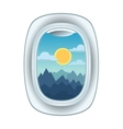 Airplane window view vector image vector image