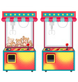 Arcade game machines with dolls vector image vector image