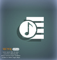 Audio MP3 file icon sign On the blue-green vector image