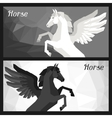 Backgrounds with horse pegasus in flat style vector image vector image