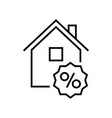 building sales line icon concept sign outline vector image