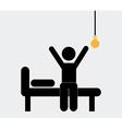 bulb idea vector image vector image