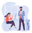 business meeting negotiation brainstorming vector image vector image