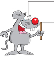 Cartoon Mouse Holding a Sign vector image