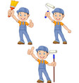 cartoon painters with equipment brush collection s vector image vector image