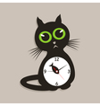 cat clock vector image vector image