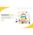 celebrate event website landing page design vector image vector image