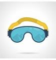 Climbing goggles color icon vector image