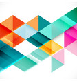 colorful transparency and overlapping triangle vector image vector image