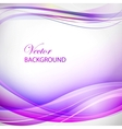 Colorful violet wave vector image vector image