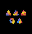 creative colorful letter a logo set vector image