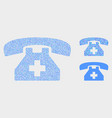 dotted first aid phone icons vector image vector image