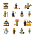 Farmers Icons Set vector image