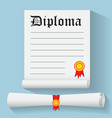 Flat design modern of Degree Scroll with Red vector image