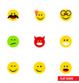 Flat icon gesture set of wonder cheerful have an vector image