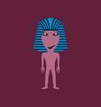 flat on background of mummy halloween vector image vector image