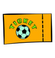 football ticket icon icon cartoon vector image vector image