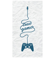 Gamepad with Cable in the Shape of a Message vector image vector image