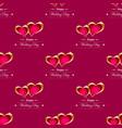 golden hearts background vector image vector image