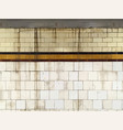 grunge tiled subway wall background vector image vector image
