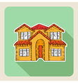 Hand drawn real estate family house vector image vector image