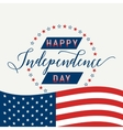 Happy Independence Day United states July 4th vector image vector image