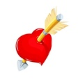 Heart and arrow Symbol love vector image vector image