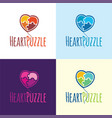 heart puzzle balloon logo and icon vector image